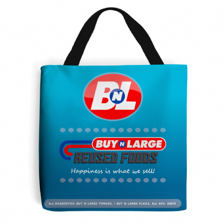 Buy N Large Corporation Reused Foods BnL Wall E Grocery Shopping Tote Bag